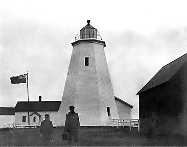Cape Saint Mary lighthouse circa 1868
